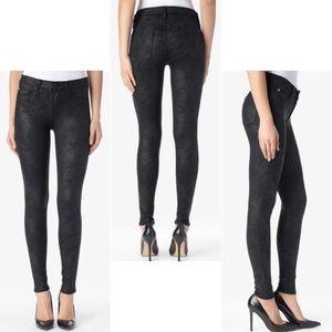 Hudson Nico Mid-rise Super Skinny Black Jean 28